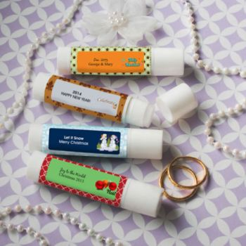 DIY Holiday Theme Lip Balm Favors image