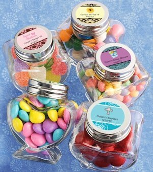 Personalized Sweet Celebrations Heart Shaped Jars image
