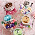 Personalized Heart Shaped Glass Jar Favors