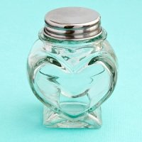 Perfectly Plain Collection Heart Shaped Glass Jars