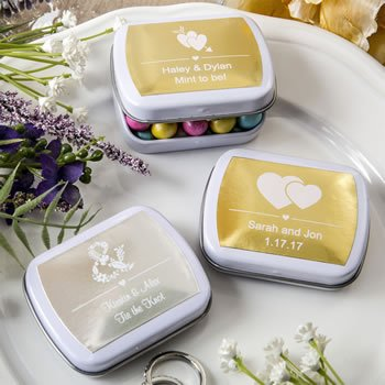 Personalized Metallics Collection Favor Mint Tins image