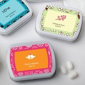 Personalized Wedding Favor Mint Tins (Many Designs) image