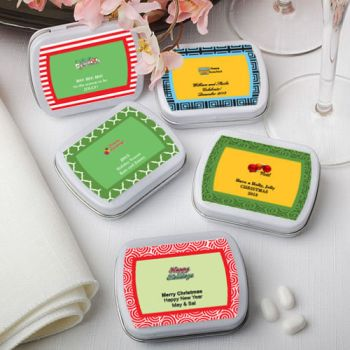 DIY Holiday Themed Mint Tin Favors image
