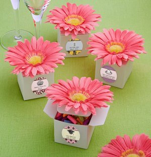 Custom Pink Daisy Favor Boxes image
