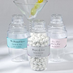 Themed Cocktail Shaker Wedding Favors image