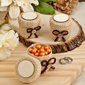 Perfectly Plain Collection Burlap Boxes image