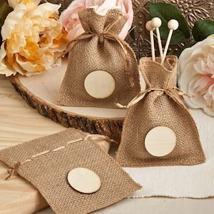 Perfectly Plain Collection Small Burlap Bags image