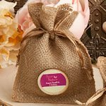 Design Your Own Burlap Favor Bags