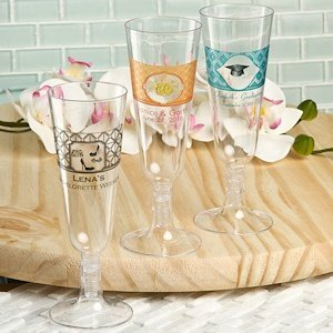 Sweet Celebrations Personalized Acrylic Champagne Flutes image