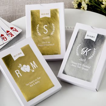 Personalized Metallics Collection Playing Card Favors image