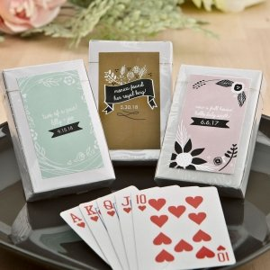 Vintage Design Clear Case Playing Card Favors image