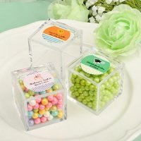 Personalized Acrylic Cubic Party Favor Box