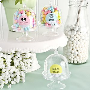 Personalized Cake Stand Box Wedding Favors image