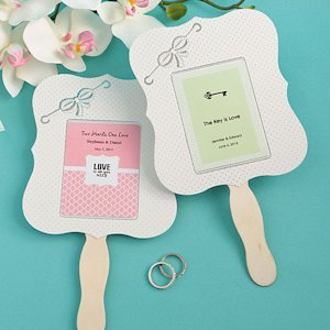 Personalized Paper Wedding Fan Favors image