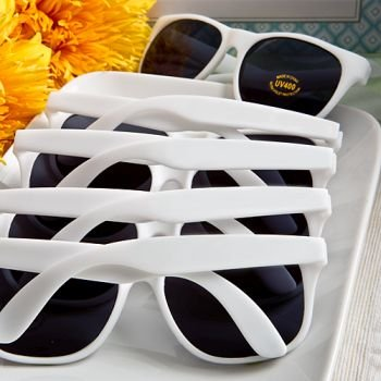 Perfectly Plain Trendy White Sunglasses Favors image