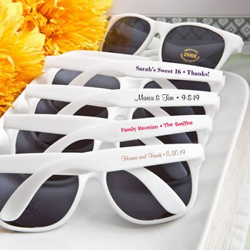 Personalized Sunglasses: Text Silk-Screened Directly onto th image