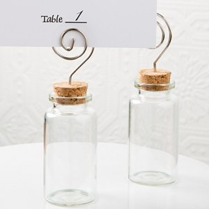 Perfectly Plain Glass Jar Place Card Holders image