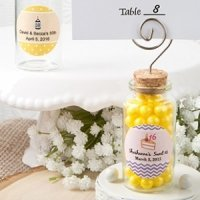 Personalized Glass Jar Place Card Holder Party Favors