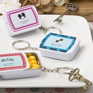 Personalized Expressions Mint Tin Key Ring Wedding Favors image