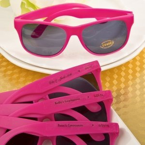 Hot Pink Personalized Sunglasses Party Favors image