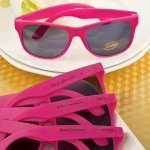 Hot Pink Personalized Sunglasses Party Favors