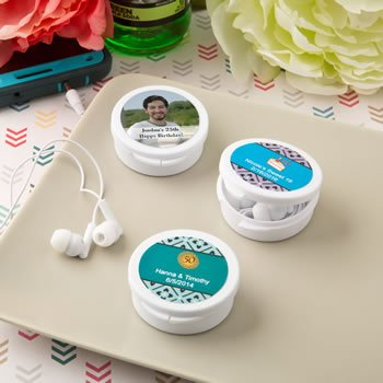 Personalized Celebrations Ear Bud Headphones Favors image