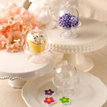 Perfectly Plain Medium Size Acrylic Treat and Cupcake Stands image