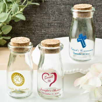 DIY Personalized Celebration Vintage Milk Bottle Favors image