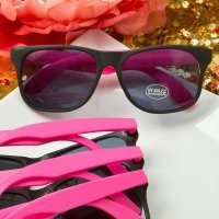 Perfectly Plain Collection Plastic Wayfarer Style Sunglasses
