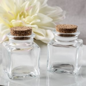 Perfectly Plain Collection Square Clear Glass Treat Jar image