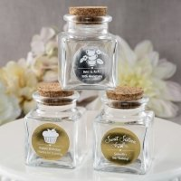 Personalized Metallics Occasions Square Glass Jars