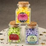 Personalized Expressions Square Clear Glass Treat Jar