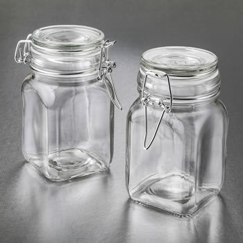 Perfectly Plain Glass Apothecary Hinged Jar image