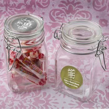 Personalized Metallics Hinged Glass Apothecary Jars image