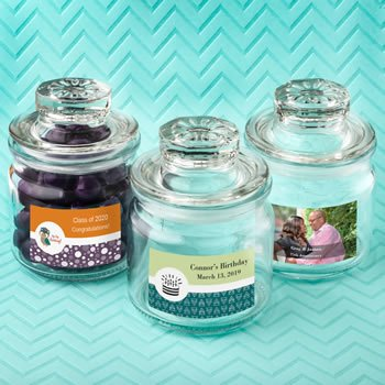 Personalized Celebrations Glass Jar with Sealed Cover image