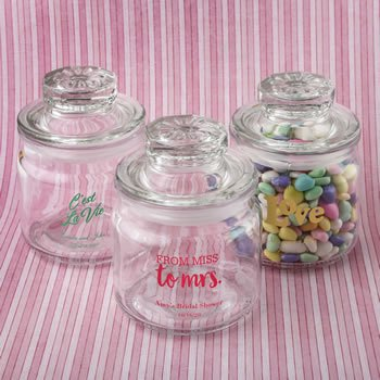 Wedding Design Glass Jar Favors with Sealed Cover image