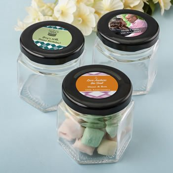Personalized Celebrations Small Hex Jar Favors image