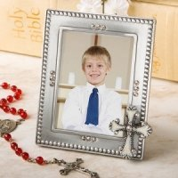 Cross Photo Frame Party Favors for Communions