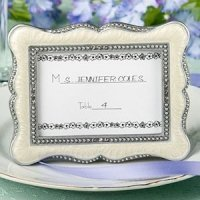 Victorian Place Card Frame with Enamel Inlay