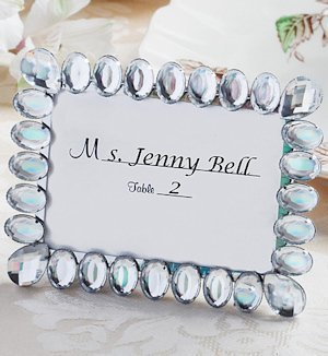 Shimmering Bling Place Card Frames for Weddings image