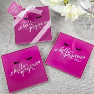 Hello Gorgeous Glass Coasters Set image