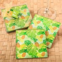 Tropical Pineapple Themed Glass Coaster Favor Set