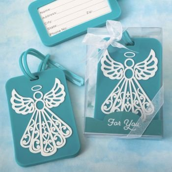 Turquoise Angel Design Luggage Tag Favors image