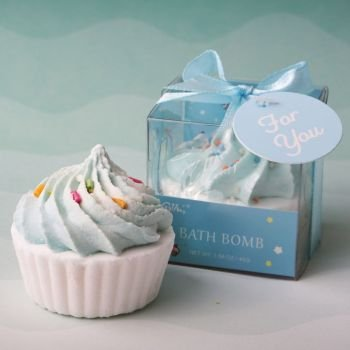 Adorable Blue Cupcake Bath Fizzer image