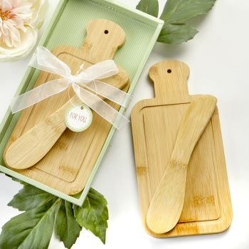 Bamboo  Wood Cheese board and spreader image