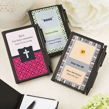 Personalized Celebration Black Notebook Favors image