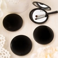Black Compact Mirror Favors