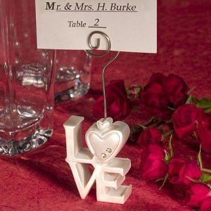 Stacked 'Love' Design Place Card Holders image