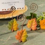 Autumn Leaf Wire Place Card Holders (3 Assorted Colors)