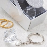 Crystal Clear Diamond Design Keychain Favors